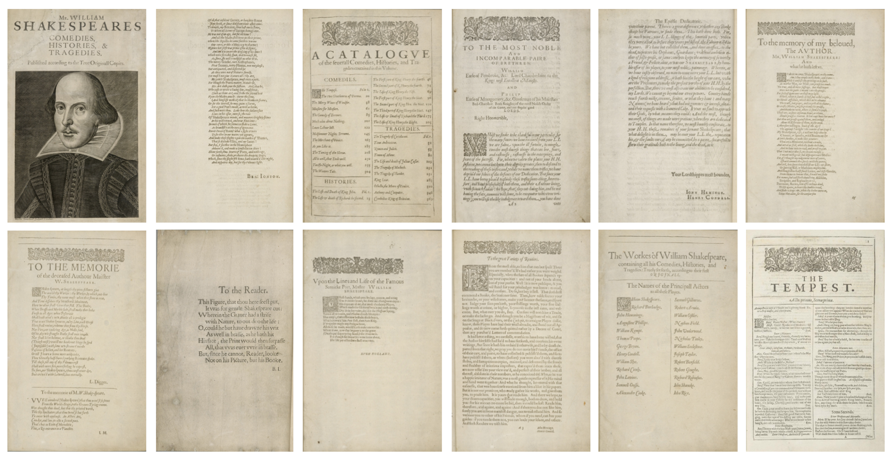 Extracts from the First Folio