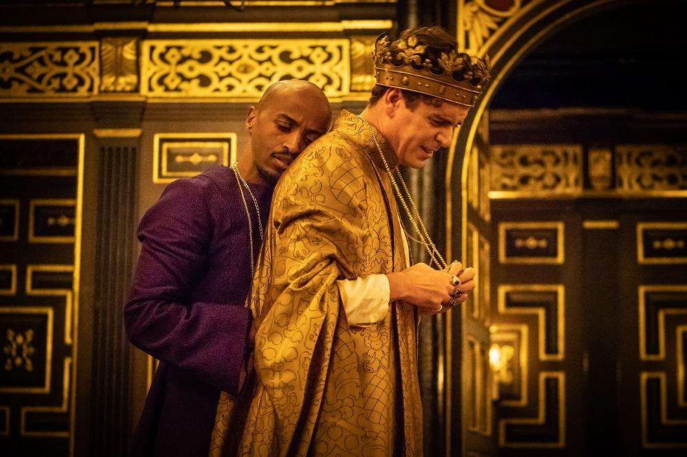Beru Tessema and Tom Stuart in Edward II