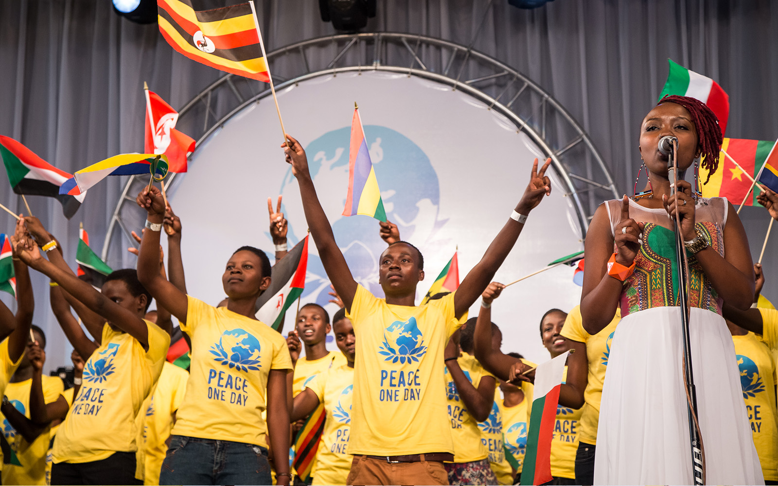 Photo of a Peace Day Celebration on stage