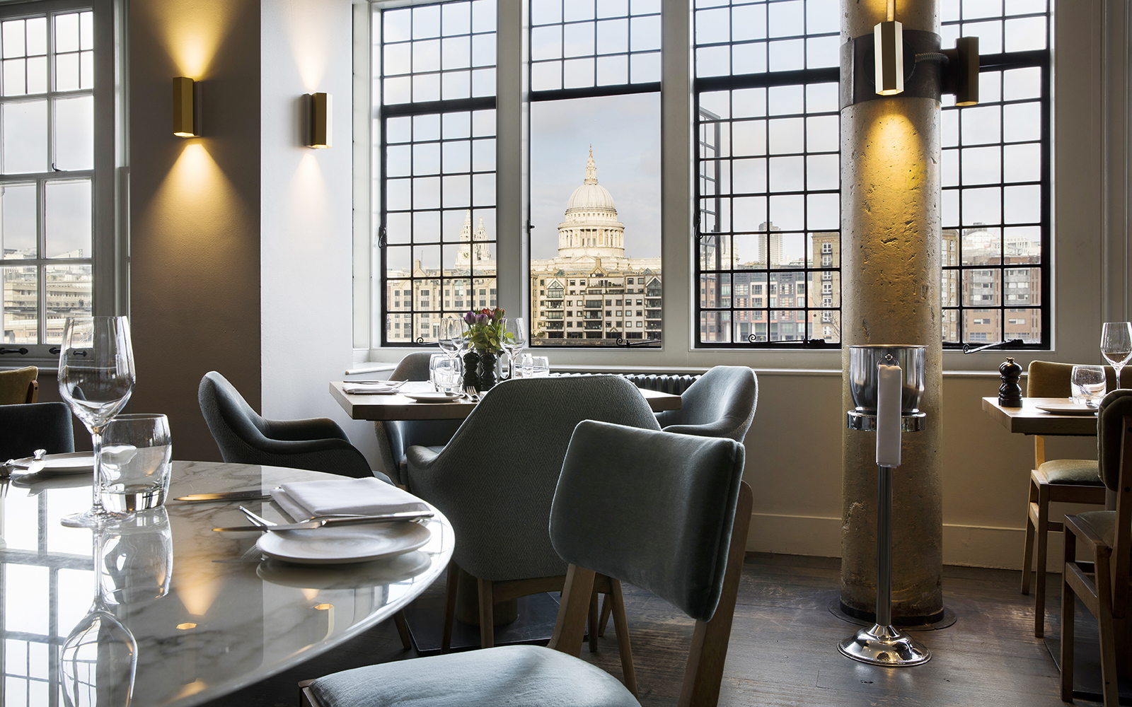Photo of the view of St Paul's from the Swan Restaurant