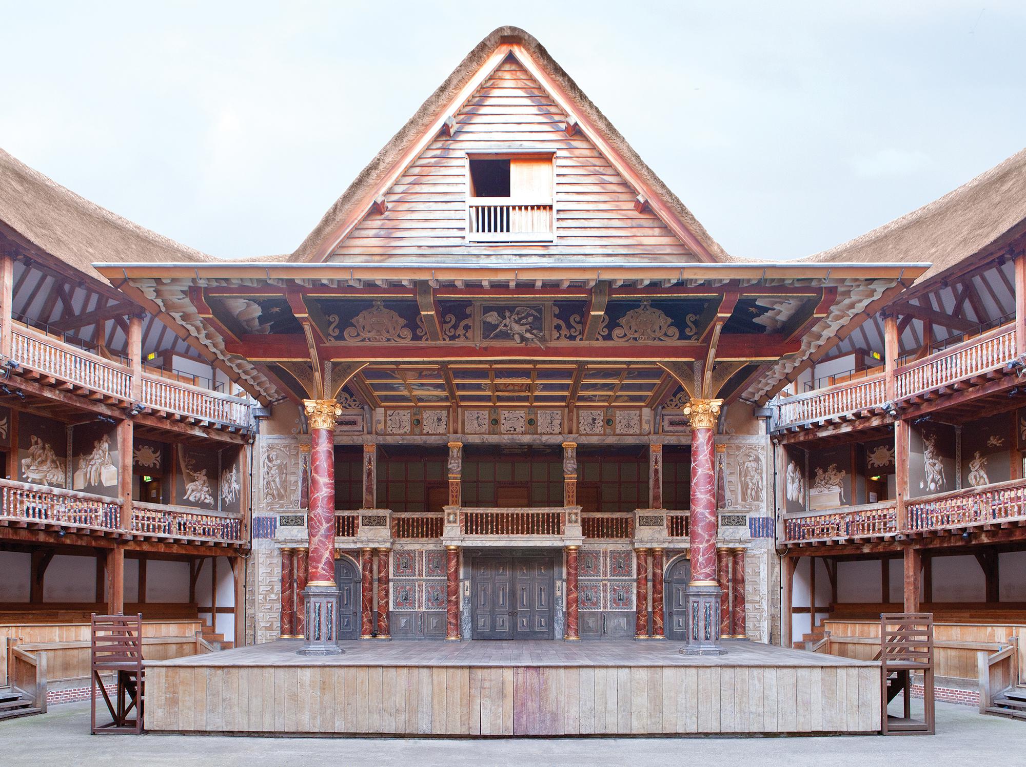 Globe Theatre: interior with empty stage