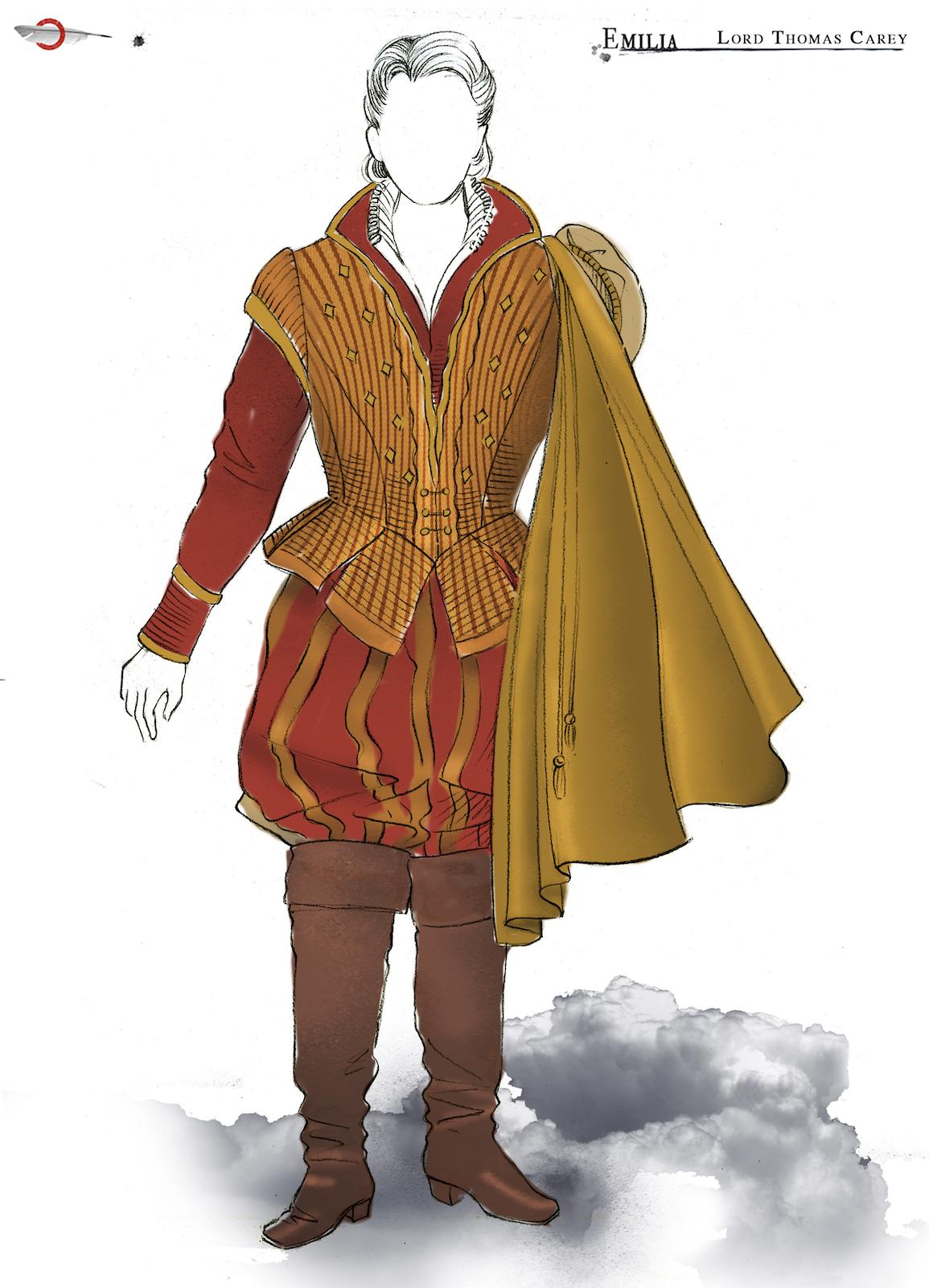 A sketch of a male Elizabethan costume