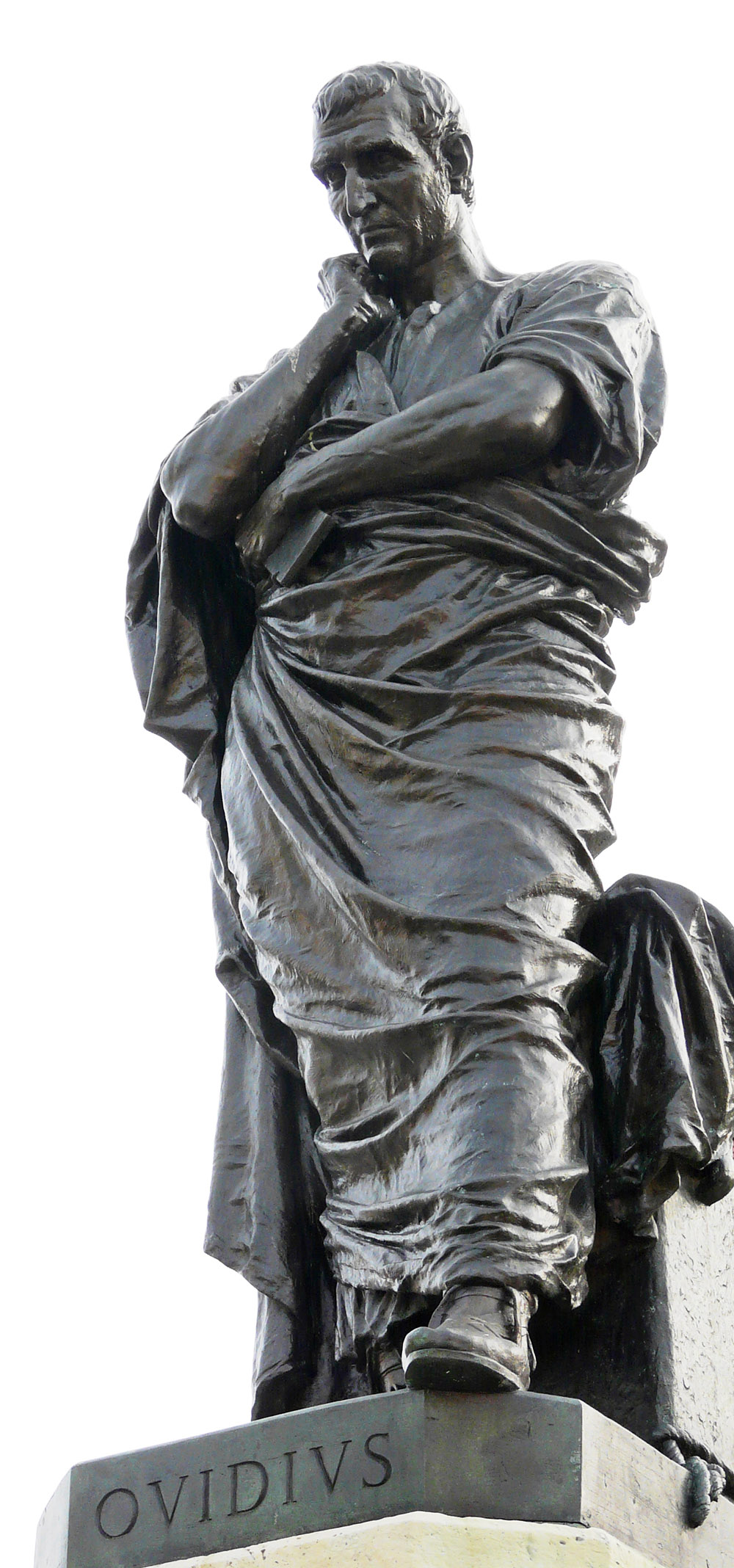 A statue of the Roman poet, Ovid.